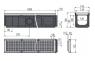 Дренажный канал Alca Plast AVZ103-R104