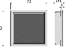 Решетка для сливных трапов Alca Plast MPV016 92x92 мм