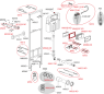 Монтажная рама Alca Plast A108F/1500 для видуара и смесителя