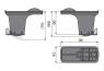 Комплект комбинированных гидрозатворов Alca Plast P095