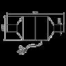 Bентилятор для скрытых систем инсталляции Alca Plast P128