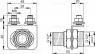 Консоль для подключения воды Alca Plast P103