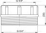 Подсоединение к сифону Alca Plast S0556-ND