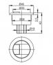 Кнопка Alca Plast V296