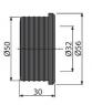 Гофрированная прокладка Alca Plast Z0004-ND 50/32