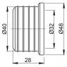 Гофрированная прокладка Alca Plast Z003 40/32